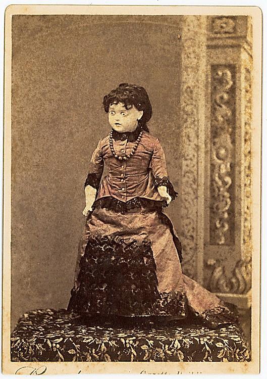 A doll alone.