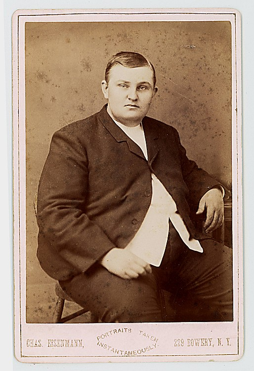 "John Robinson, Fat Man. Claimed to be the heaviest man in the world, but he was ""only"" 588 pounds."