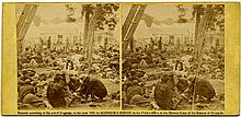 """""""Wounded, at Savage Station, after the Battle of 27th June, '62.""""  View No. 491, 1862. Copyright by Gardner and Gibson."""