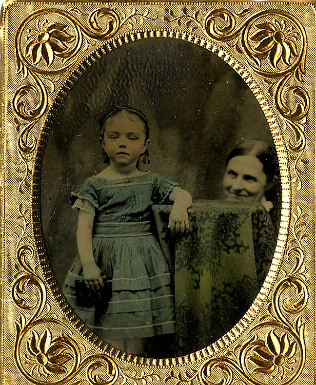 Unhidden mother. tintype