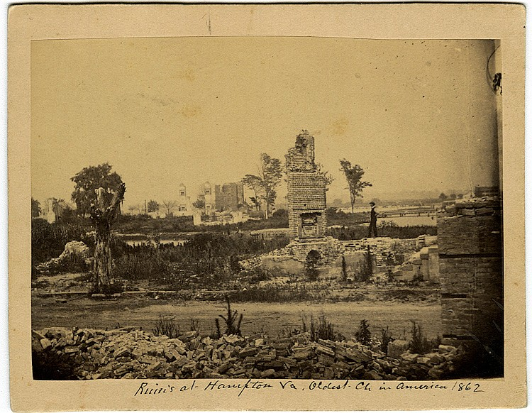 Church ruins at Hampton., two views.