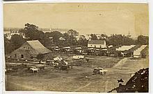 Encampment at a farm about the river.