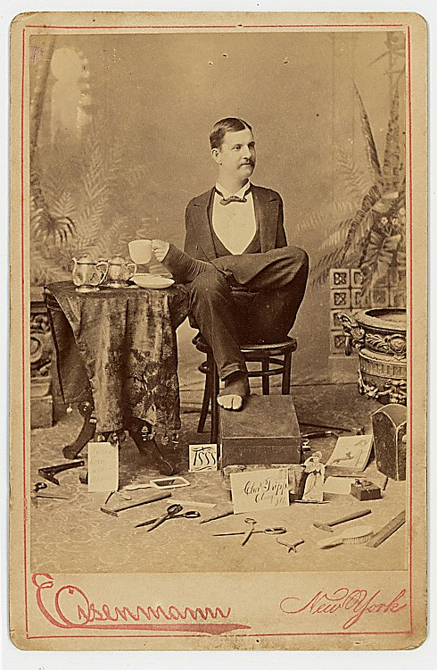 Charles B. Tripp, armless wonder.