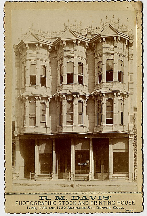 R. M. Davis' Photographic Stock and Printing House, Denver, Colorado.