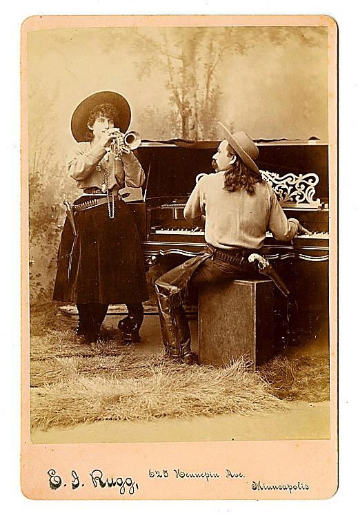 Cowboy musicians.,