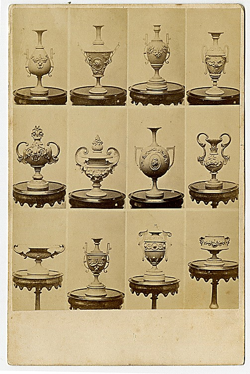 Ornamental Photographic Accessories—Urns, Vases, Pitchers, etc.