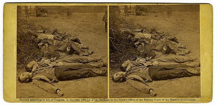 Confederate dead, 2 views by O'Sullivan, C. 1864 by Gardner, published by Philp and Solomons