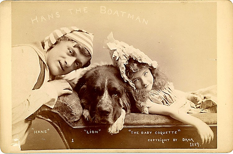 Theatrical group with dogs