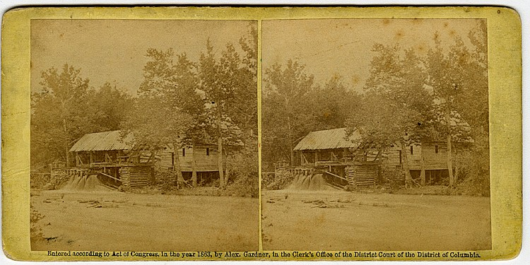 Quarles Mill, North Anna. 2 views by O'Sullivan. C. 1863 by Gardner, Published Philp & Solomon, credit O'Sullivan.