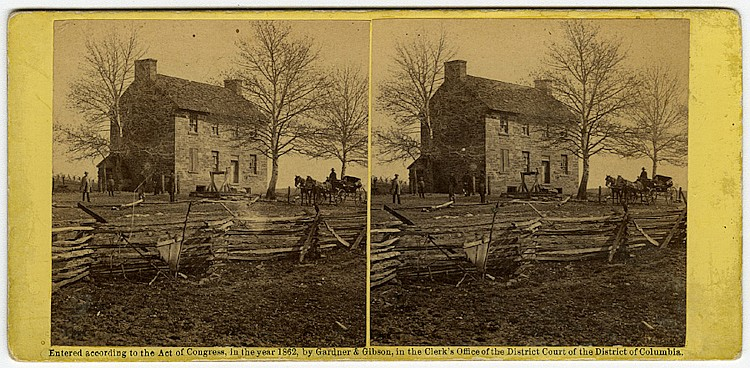 """Mathew's House, Bull Run"" by George Barnard. C. 1862 by Gardner & Gibson."