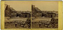 """""""Winter Quarters Confederate Army"""" by Barnard. C. 1862 by Gardner & Gibson. No 331, """"…. Centreville, Mar. 1862."""""""