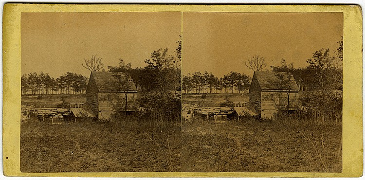"""Elliston's Mill… "" by Gardner. No. 920. ""…. Battle-field of Mechanicsville, Va. April 16, 1865."""