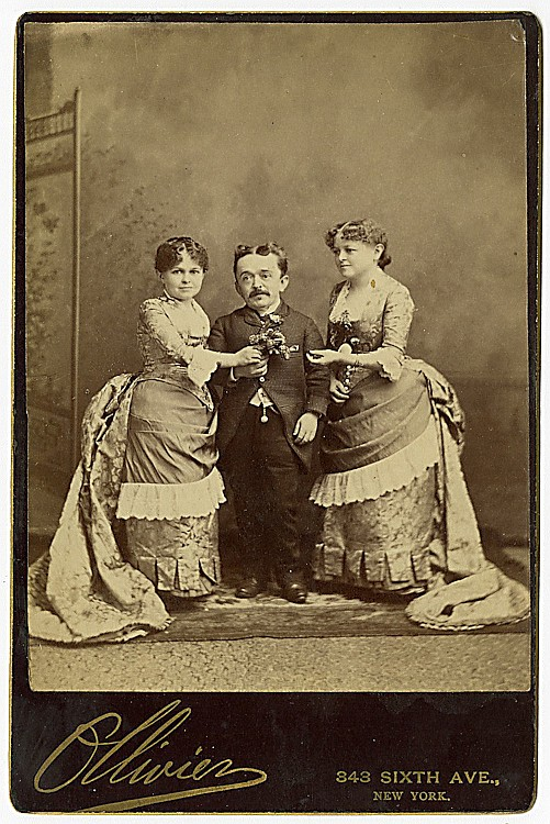 """Count Magri"" with two women, by Olivier, NY."