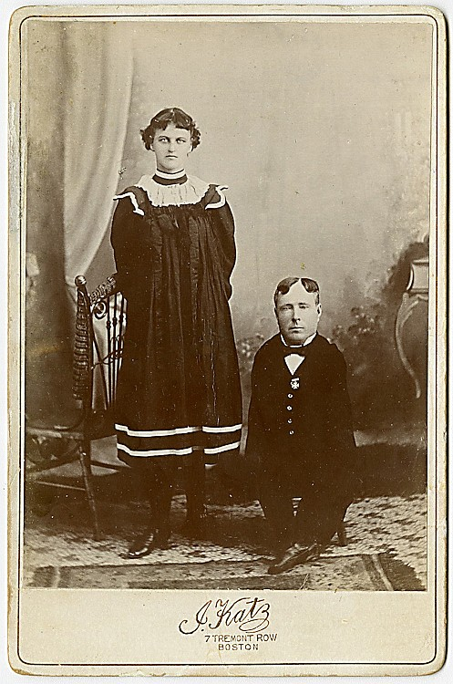 A midget with his sister, by J. Katz, Boston.