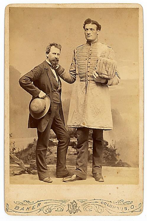 Captain Ureck, Giant, 2 cabinet cards.