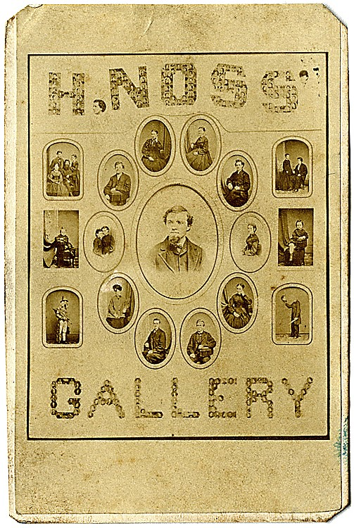 Advertisement for H. Noss Gallery, CDV.