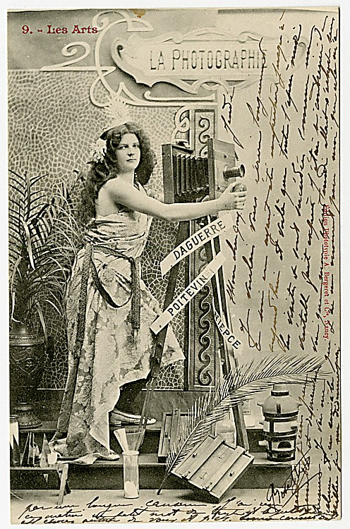 "The Art of Photography. This is a French ""phototype"" postcard from a series ""Les Arts."""