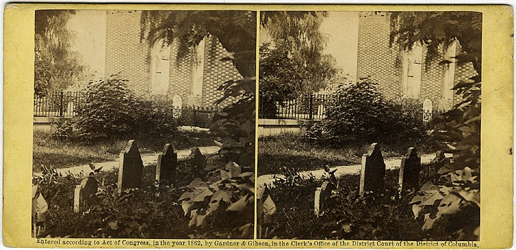 Ruins of Hampton Church, negative by George Barnard, published by Gardner.
