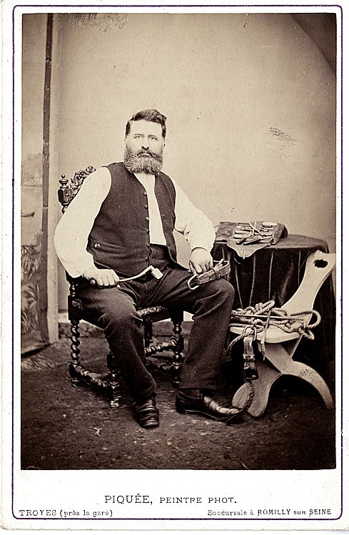 A French saddle maker.