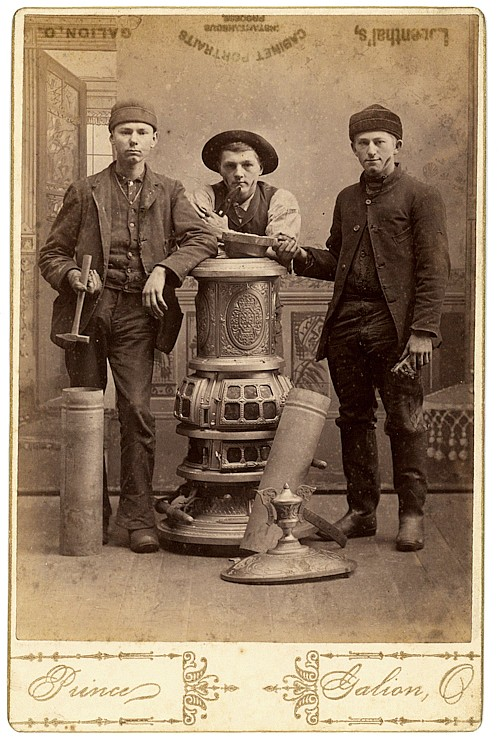 Stove repair workers, by Prince, Galion, Ohio.
