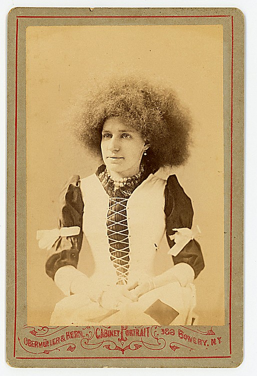 "Zula Zingara, ""Circassian"" lady, possibly a sword swallower, with a pleasant face."