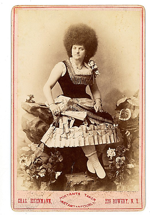"Zoe Meleke, ""Circassian"" lady, by Eisenmann."