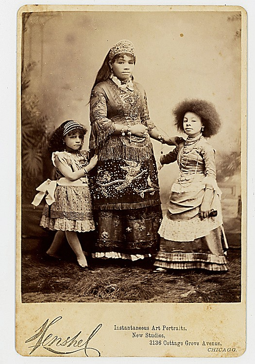 South American or Middle Eastern mother and daughters.