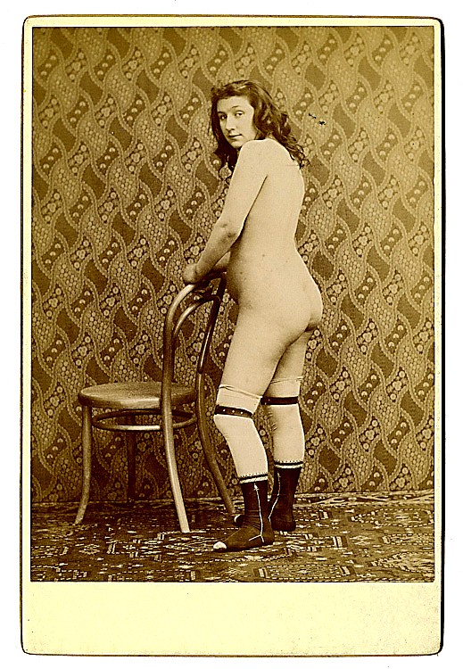 Three cabinet cards of nudes.