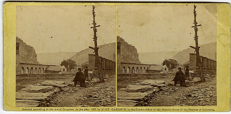 Brady at Harper's Ferry, 2 views C. 1862 by Gardner.