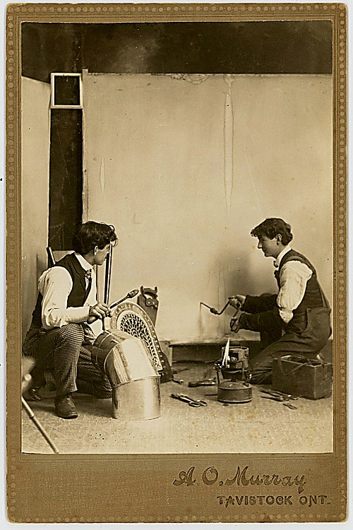 A man has two trades. Trick photographs. Canada