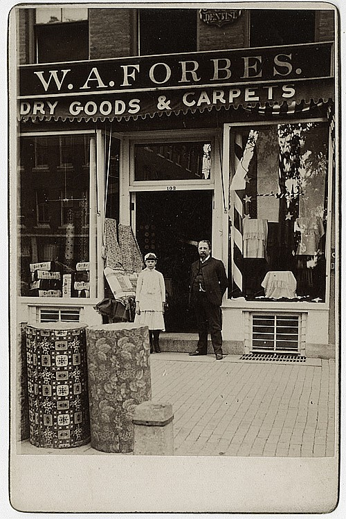 A dry goods and carpet store.