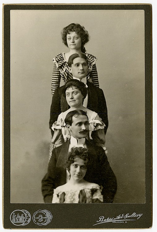 Theatrical portraits by the Baker Art Gallery, Columbus, Ohio. 15 cabinet cards.