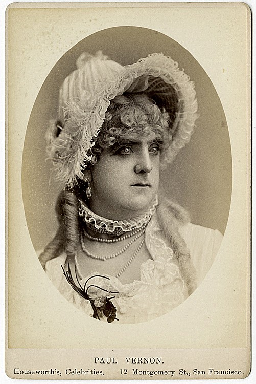 Paul Vernon in a female role.