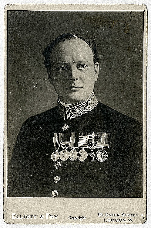 Winston Churchill in uniform, possibly as Minister of Munitions