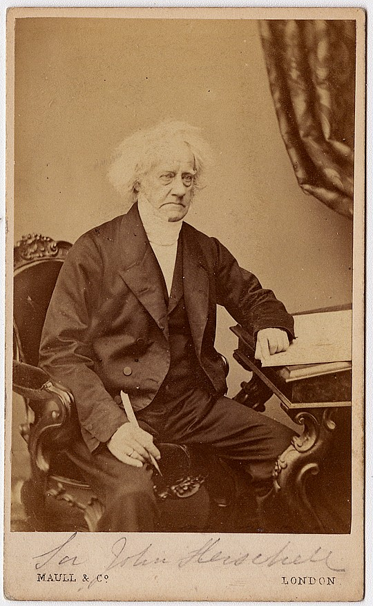 Sir John Herschel, CDV by Maull & Co., London