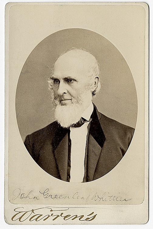 John Greenleaf Whittier., poet, abolitionist.