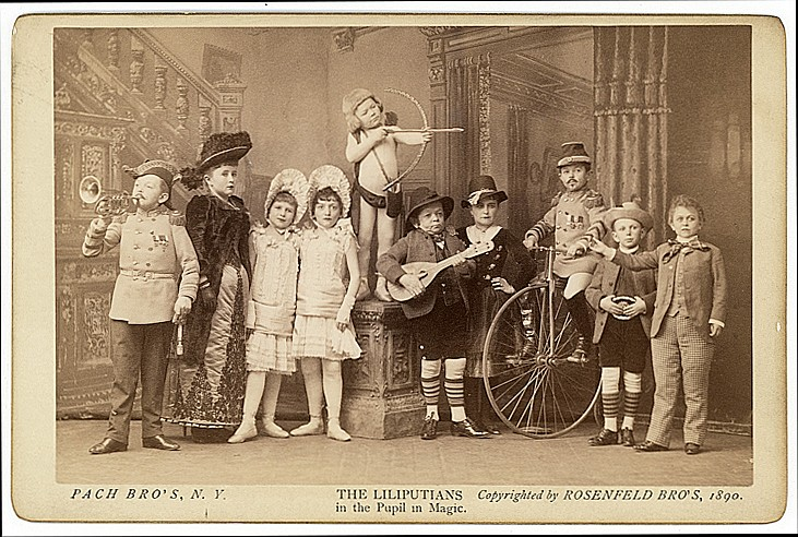 The Lilliputians. 2 cabinet cards.