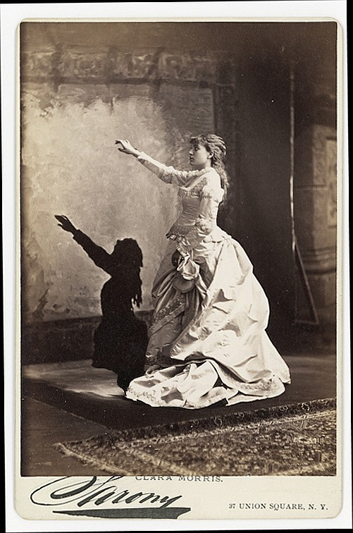 Shadow play. 2 cabinet cards
