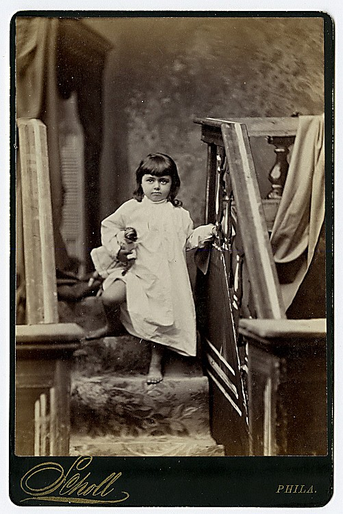 Theatrical portraits by Scholl, Philadelphia. 10 cabinet cards.