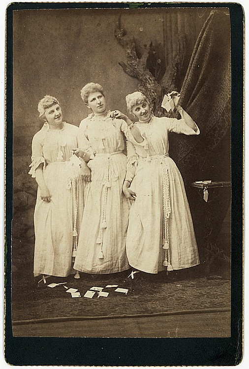 """Fortune tellers, """"The Three Fates."""""""