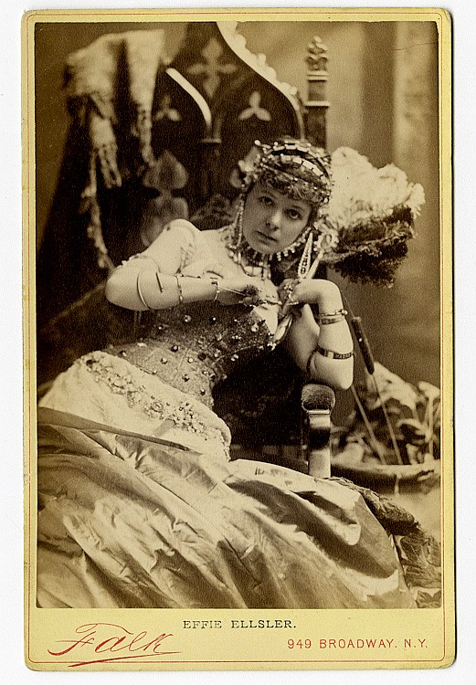Theatrical performers by Falk.. 124 cabinet cards of identified theatrical personalities by Benjamin Falk.
