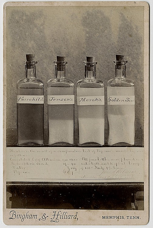 A comparative Pepsin experiment.