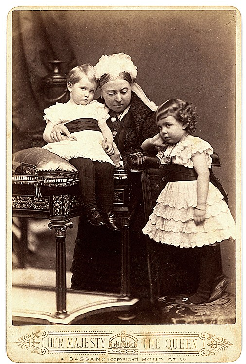 Queen Victoria and her grandchildren.