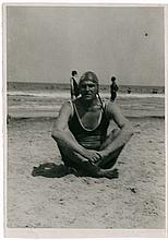 VLADIMIR MAYAKOVSKY ON THE BEACH. Brik/Rodchenko