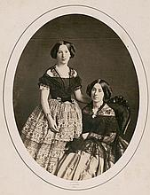 ALBUMEN PORTRAIT OF SISTERS BY GERMON.