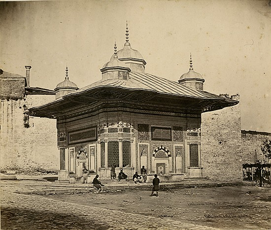 FOUNTAIN OF SULTAN AHMET III, ISTANBUL by Robertson and Beat