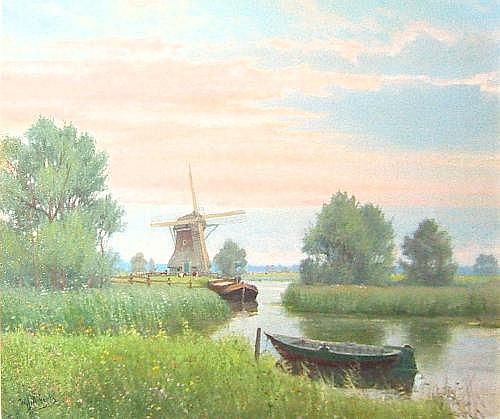 Willem Jacobus Alberts (b.1912, Dutch). River