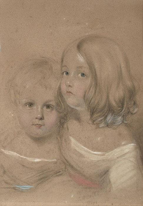 Charles Allen Duval (1808-1872) Sisters; head and