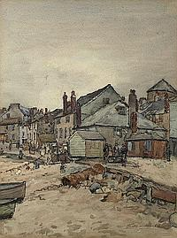 Thomas Maidment (1871-1952) St Ives; a view of