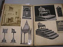 PHOTOGRAPH ALBUM : Architectural subjects, half